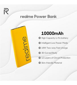 Realme 10000mAH Power Bank (Yellow) by Gear Up