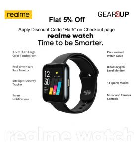 Realme Smart Watch |Time to be Smarter| - Black by Gear Up