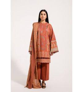 Unstitched Ethnic Printed lawn Shirt 2pcs SNS-051
