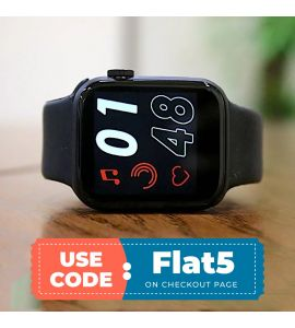 T500 Smart Watch For Android & IOS (Black) flat 5% off TM