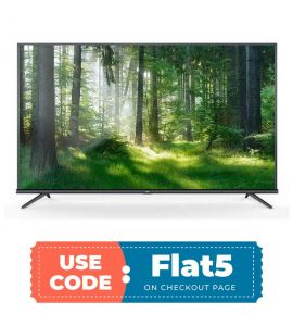 TCL L75P8MUS 75-Inch 4K UHD Smart LED TV flat off TM