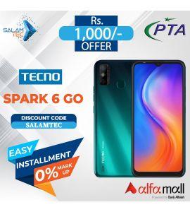 Tecno Spark 6 Go (2GB, 32GB) On Easy Installment with Official Warranty- Salamtec