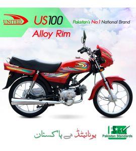US 100 Alloy Rim Motorcycle