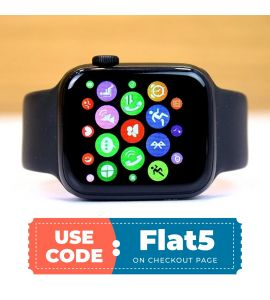W35 Smart Watch For Android And IOS (Black) flat 5% off TM