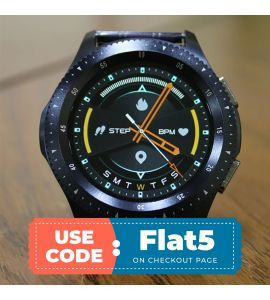 W68 Smart Watch for Android And IOS (Black) flat 5% off TM