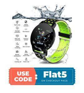 Smart Watch 119 Plus (Green) flat 5% off TM