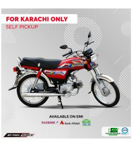 Super Power 70CC Bike Regular (Red Color)  - Karachi Only - Self Pickup