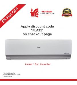 Haier 1 Ton/Triple Inverter Series/12HR (DC Inverter+Self Cleaning+UPS+Heat & Cool)/Air Conditioner/AC/5 Year Warranty/Haier Company Free Installation-KARACHI ONLY INCLUDING FREE DELIVERY-FLAT 5 %OFF