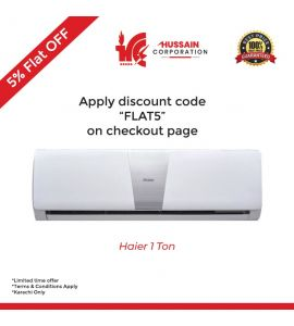 Haier 1 Ton AC Turbo Cool 47 % Fast Cooling Long Air Throw Pure Copper Model - 12 LT-Haier Company Free Installation-Karachi Only-Including Free Delivery-FLAT 5 % OFF