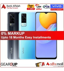Vivo Y31 - 6.58 Inch Display - 48MP Camera - 4GB RAM - 128GB Storage - 1 Year Official Brand Warranty | On Installments| With Free Handsfree | Gear Up