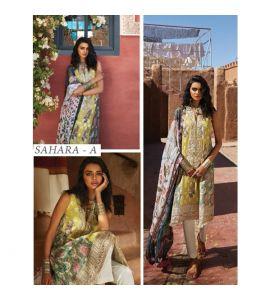 Zara Shahjahan Lawn Collection 2019 3 Piece (ZSL SAHARA-A)