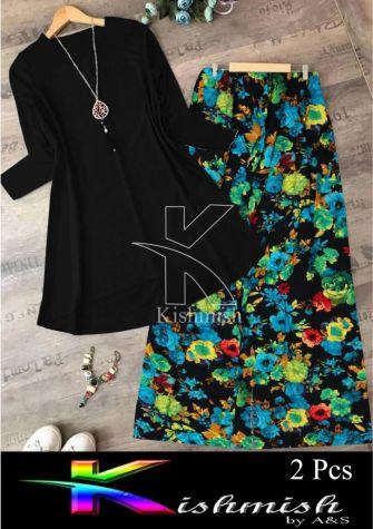 A&S Black Rozana 2 Pcs Suit