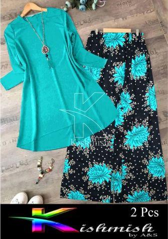 A&S Green Rozana 2 Pcs Suit